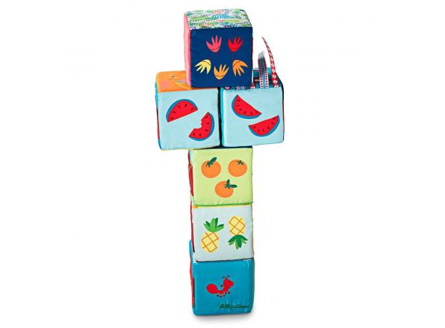 Набор из 6 мягких кубиков Lilliputiens «Тотемы», фото , изображение 3
