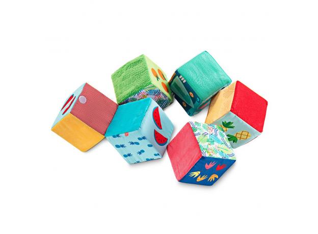 Набор из 6 мягких кубиков Lilliputiens «Тотемы», фото , изображение 5