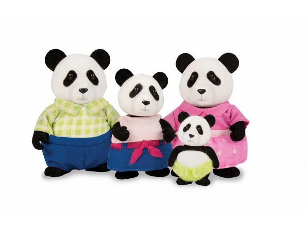 Игровой набор Li'l Woodzeez «Семья панд», фото
