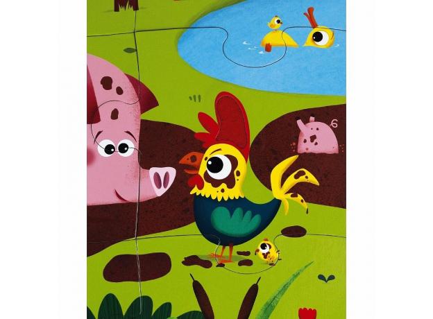 Пазл Janod «Животные на ферме» с разными текстурами: 20 элементов, фото , изображение 3