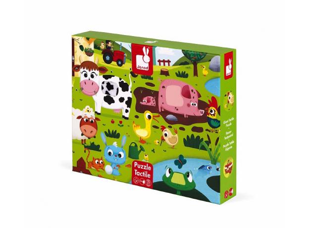 Пазл Janod «Животные на ферме» с разными текстурами: 20 элементов, фото , изображение 5