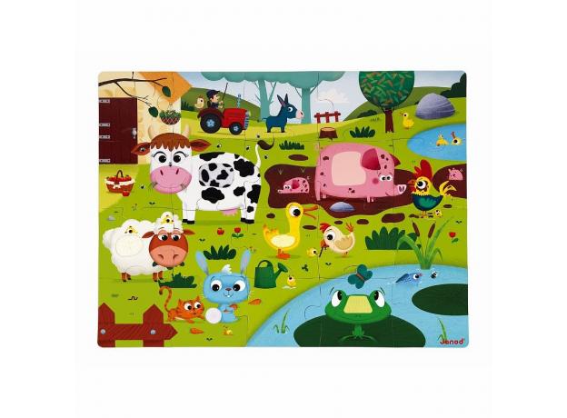 Пазл Janod «Животные на ферме» с разными текстурами: 20 элементов, фото , изображение 7