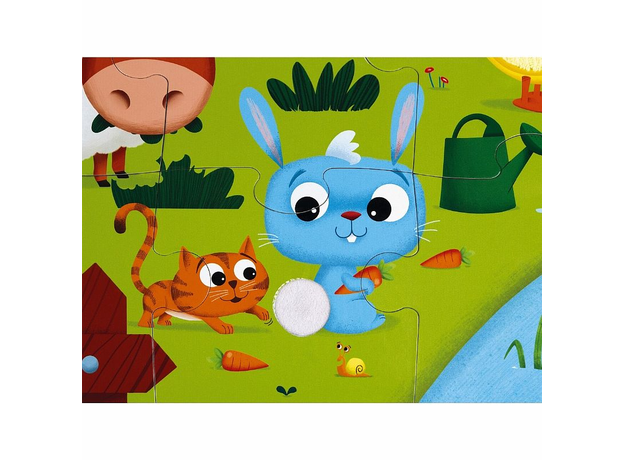 Пазл Janod «Животные на ферме» с разными текстурами: 20 элементов, фото , изображение 9