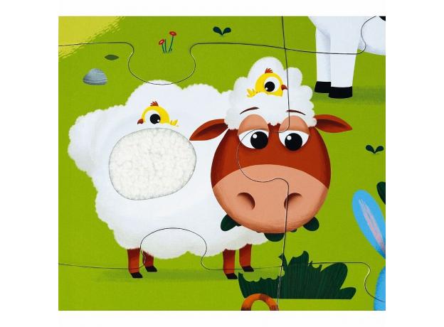 Пазл Janod «Животные на ферме» с разными текстурами: 20 элементов, фото , изображение 10