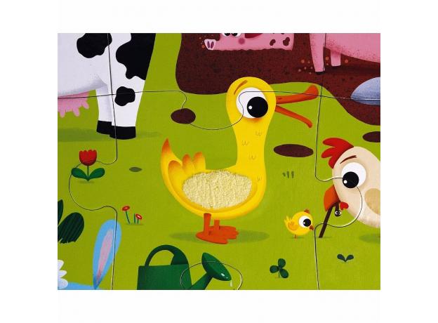 Пазл Janod «Животные на ферме» с разными текстурами: 20 элементов, фото , изображение 11