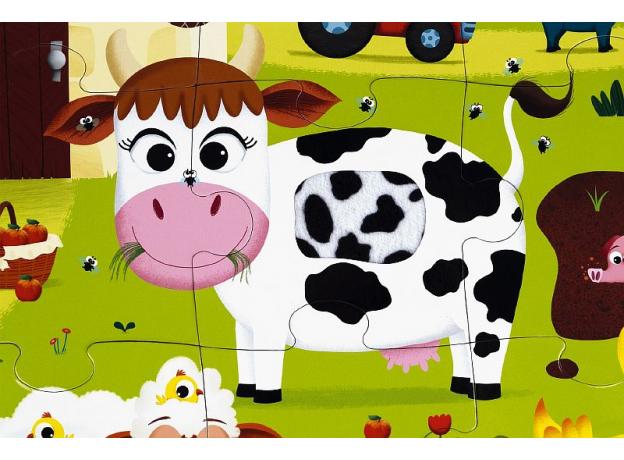 Пазл Janod «Животные на ферме» с разными текстурами: 20 элементов, фото , изображение 12