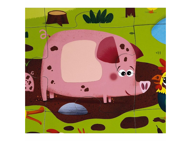 Пазл Janod «Животные на ферме» с разными текстурами: 20 элементов, фото , изображение 13