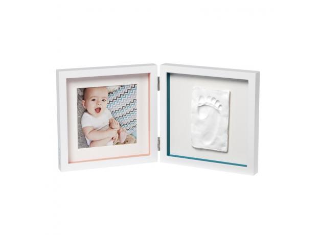 Рамочка двойная Baby Art «Baby Style»; белая, фото