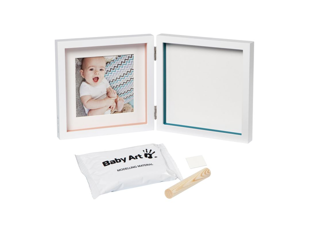Рамочка двойная Baby Art «Baby Style»; белая, фото , изображение 2