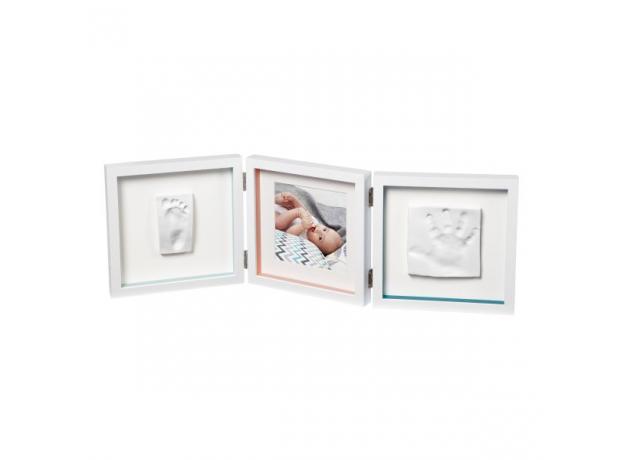 Рамочка тройная Baby Art «Baby Style»; белая, фото , изображение 3