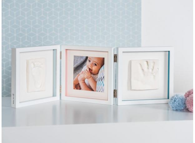 Рамочка тройная Baby Art «Baby Style»; белая, фото