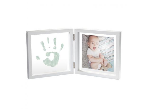Рамочка двойная прозрачная с отпечатком краской Baby Art «Baby Style»; белая, фото , изображение 2