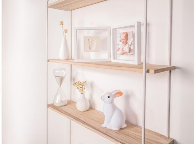 Рамочка двойная прозрачная Baby Art «Baby Style» с отпечатком, белая, фото