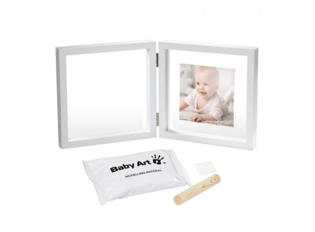Рамочка двойная прозрачная Baby Art «Baby Style» с отпечатком, белая, фото , изображение 2