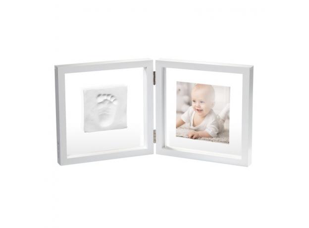 Рамочка двойная прозрачная Baby Art «Baby Style» с отпечатком, белая, фото , изображение 3