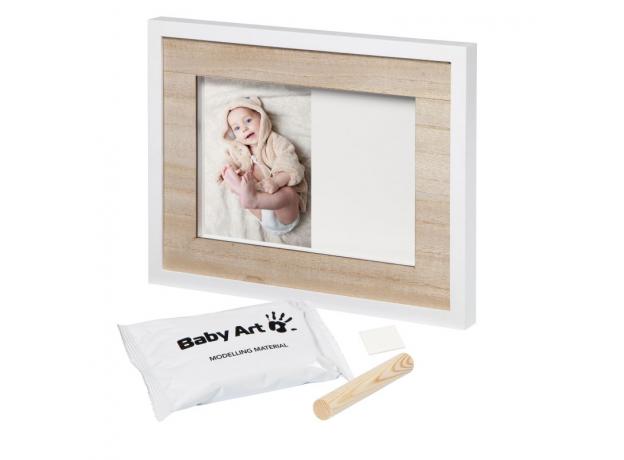 Рамочка одинарная Подвесканая Baby Art «Baby Style»; дерево, фото , изображение 2
