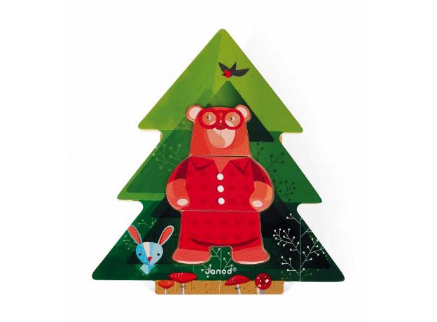 Пазл деревянный Janod «Медведь в пижамах», фото , изображение 6
