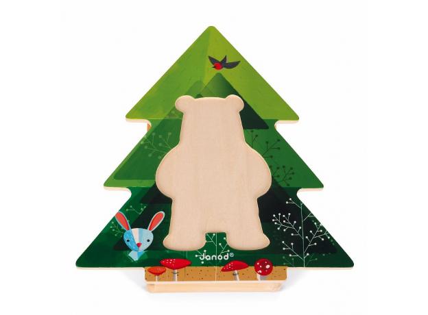 Пазл деревянный Janod «Медведь в пижамах», фото , изображение 3