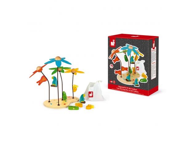 Сортер-игра Janod «Тропический остров»; серия «Я учу цвета», фото , изображение 2