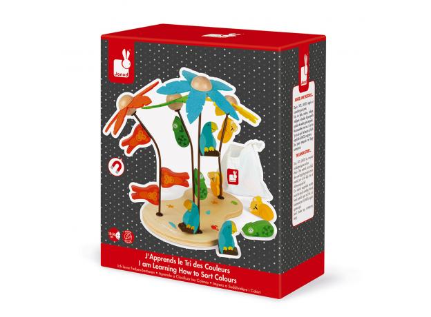Сортер-игра Janod «Тропический остров»; серия «Я учу цвета», фото , изображение 7