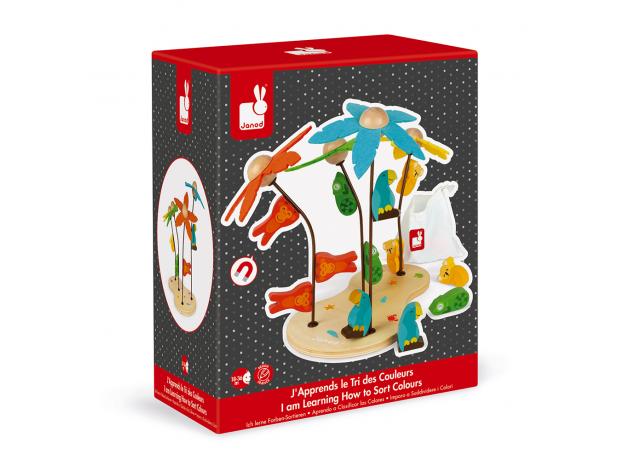 Сортер-игра Janod «Тропический остров»; серия «Я учу цвета», фото , изображение 8