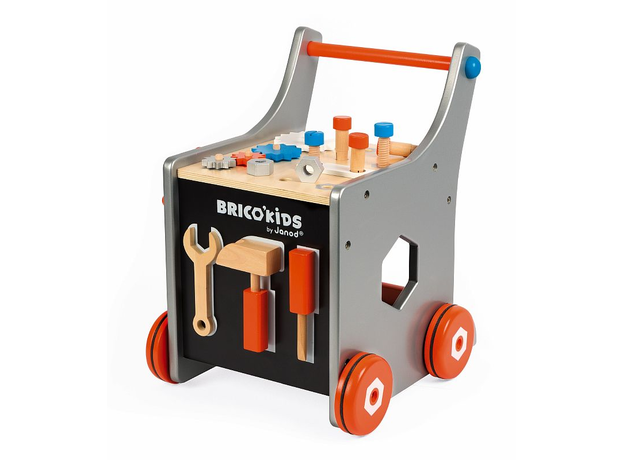 Тележка-каталка Janod «Brico'Kids» с набором магнитных инструментов: 25 аксессуаров, фото , изображение 6