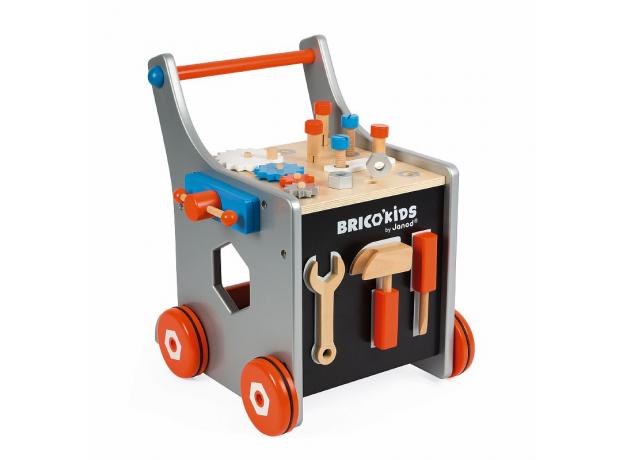 Тележка-каталка Janod «Brico'Kids» с набором магнитных инструментов: 25 аксессуаров, фото , изображение 7
