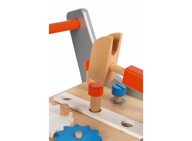 Тележка-каталка Janod «Brico'Kids» с набором магнитных инструментов: 25 аксессуаров, фото , изображение 2