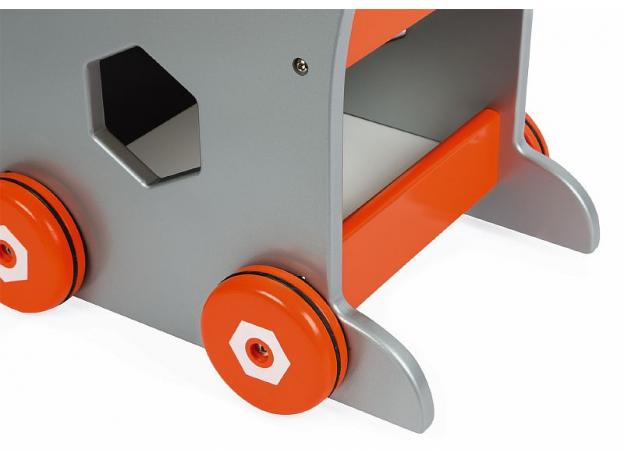 Тележка-каталка Janod «Brico'Kids» с набором магнитных инструментов: 25 аксессуаров, фото , изображение 5