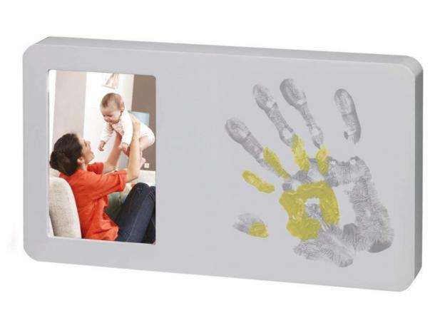 Рамочка с цветными отпечатками Baby Art «Ты и я»; серая, фото