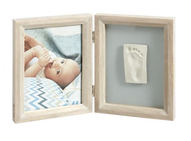 Рамочка двойная Baby Art «Классика»; беленое дерево, фото