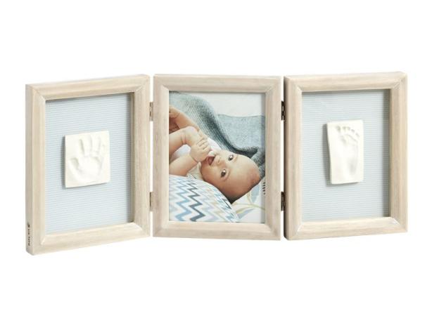 Рамочка тройная Baby Art «Классика»; беленое дерево, фото