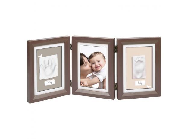 Рамочка тройная Baby Art «Классика»; коричневая, фото