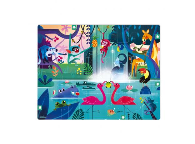 Пазл с сюрпризом Janod «Вечеринка в джунглях»; 20 элементов, фото , изображение 3