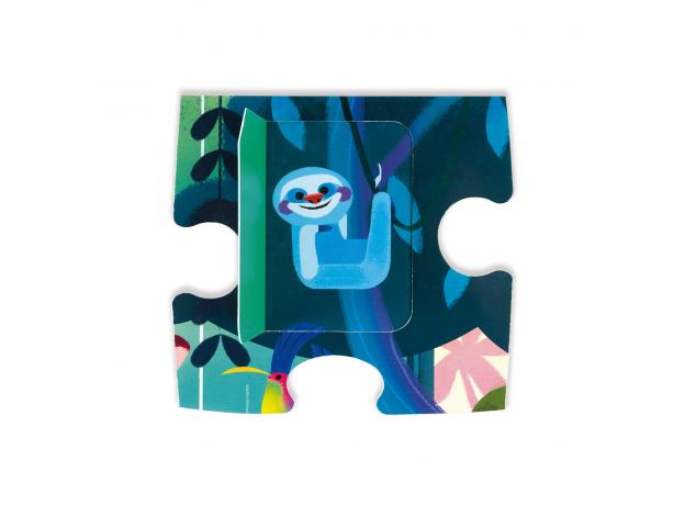 Пазл с сюрпризом Janod «Вечеринка в джунглях»; 20 элементов, фото , изображение 5