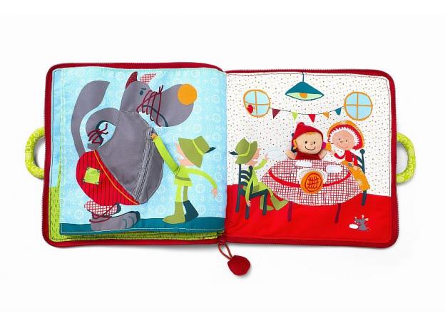 Мягкая книжка-игрушка Lilliputiens «Путешествие Красной Шапочки», фото , изображение 2