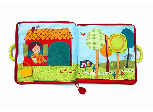 Мягкая книжка-игрушка Lilliputiens «Путешествие Красной Шапочки», фото , изображение 11