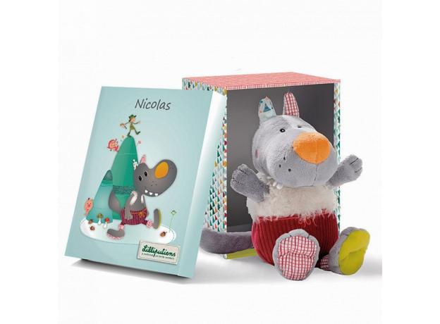 Мягкая игрушка в подарочной упаковке Lilliputiens «Волк Николас», фото , изображение 2
