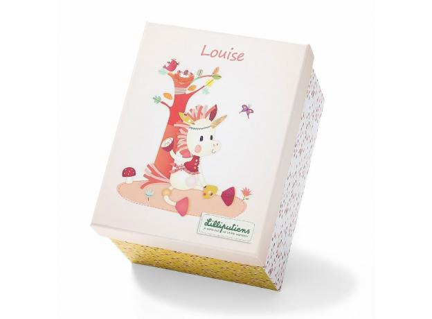 Мягкая игрушка в подарочной упаковке Lilliputiens «Единорожка Луиза», фото , изображение 3