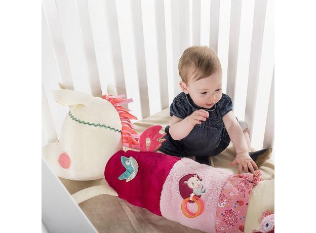 Развивающая игрушка-валик Lilliputiens «Единорожка Луиза», фото , изображение 2