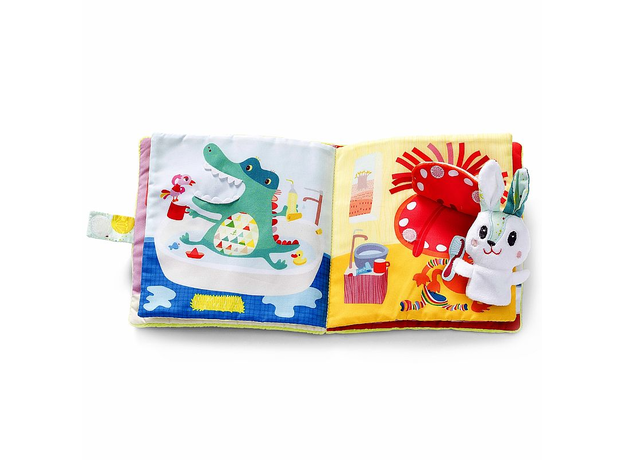 Развивающая книжка про кролика Селестина, зубного врача Lilliputiens, фото , изображение 6