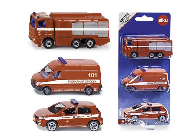 SIKU Набор машинок Пожарная служба 1818RUS, фото