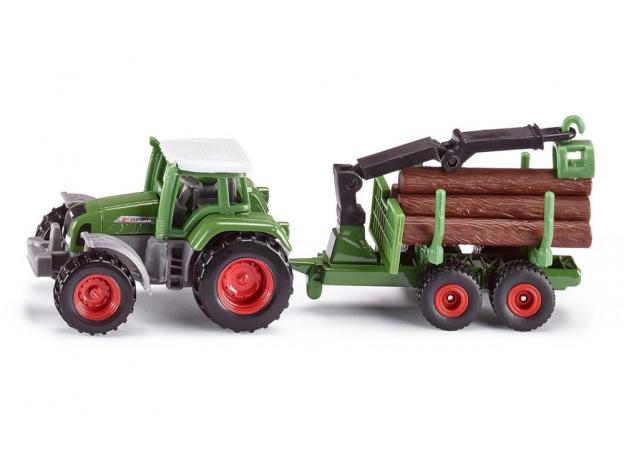 SIKU Трактор прицепом для бревен, фото