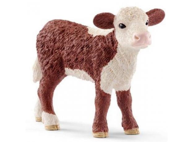 SCHLEICH Герефордский теленок 13869, фото