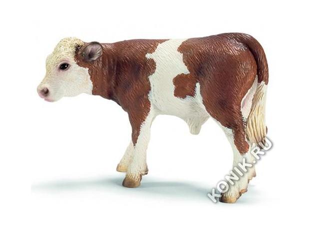 SCHLEICH Симментальский теленок 13642, фото
