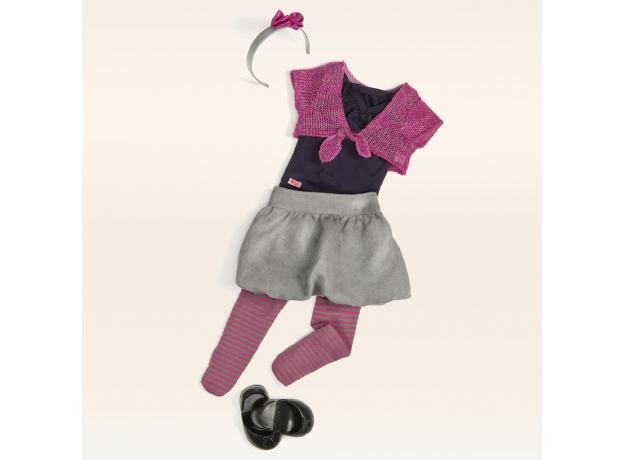 11550 Одежда для куклы 46 см(Футболка,юбка,колготки,туфли,болеро,ободок), фото , изображение 2