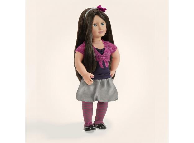 11550 Одежда для куклы 46 см(Футболка,юбка,колготки,туфли,болеро,ободок), фото