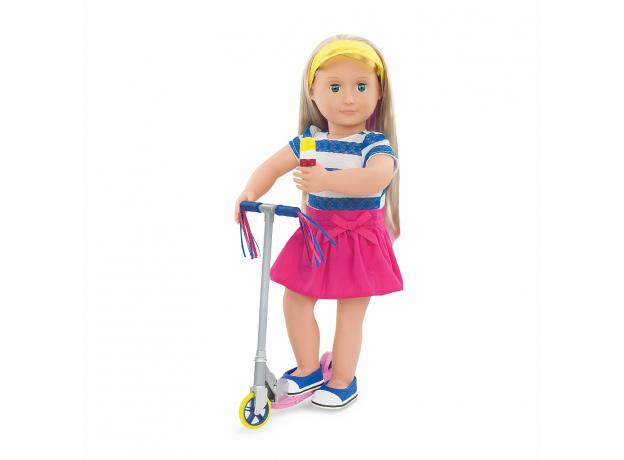 Комплект одежды для куклы Our Generation ДеЛюкс с самокатом, фото