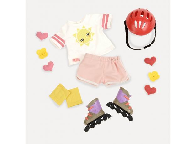 Комплект одежды для куклы Our Generation с роликовыми коньками, фото , изображение 2