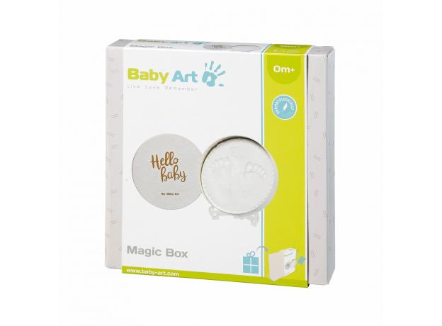 Коробочка для создания отпечатка «Мэджик бокс» круглая Baby Art; медный орнамент, фото , изображение 3